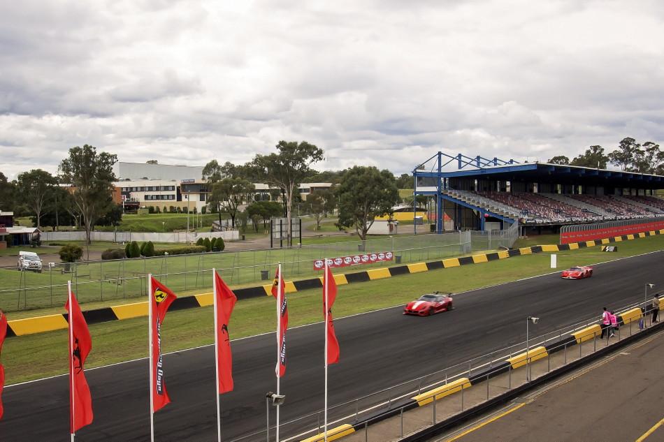 View across raceway to hotel - right next door!