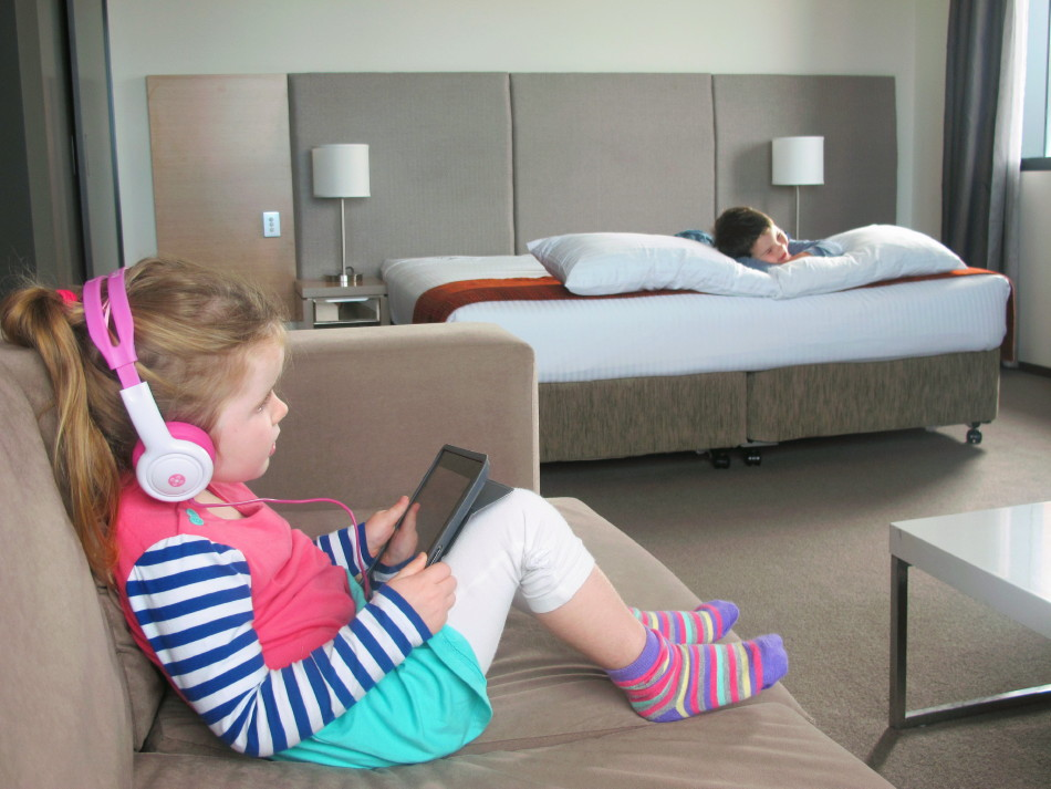 Kids can spread out and relax